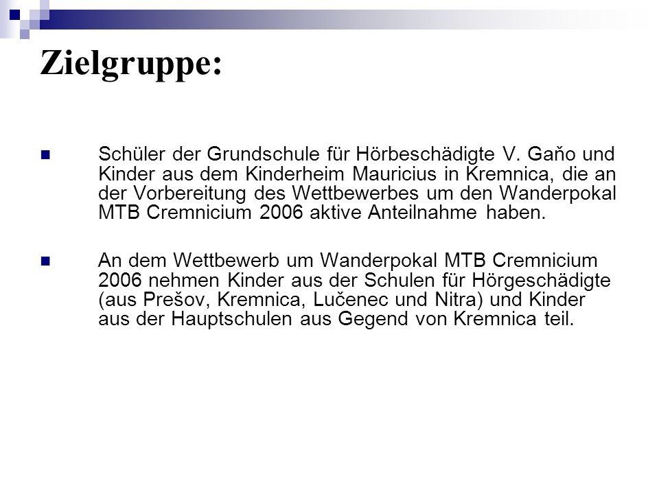 Zielgruppe: Schüler der Grundschule für Hörbeschädigte V.