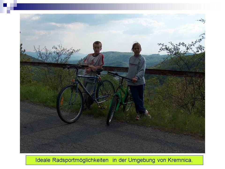 Ideale Radsportmöglichkeiten in der Umgebung von Kremnica.