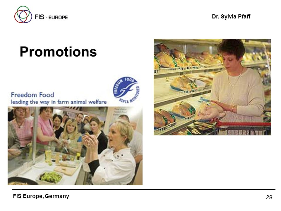 29 FIS Europe, Germany Dr. Sylvia Pfaff Promotions