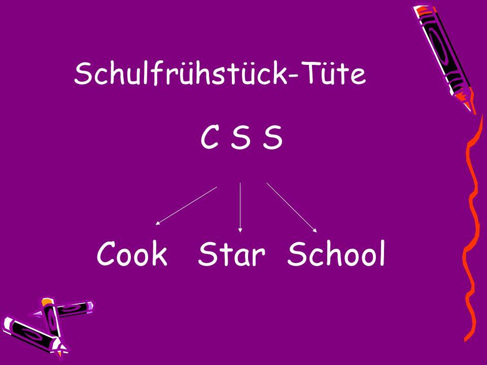 Schulfrühstück-Tüte C S S Cook Star School