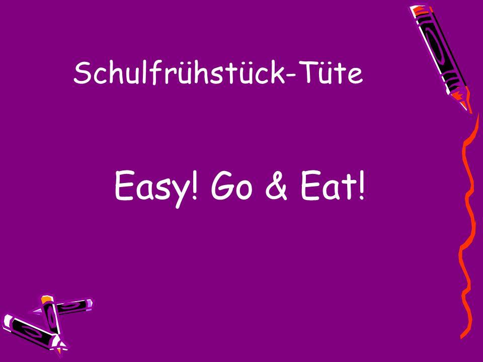 Schulfrühstück-Tüte Easy! Go & Eat!
