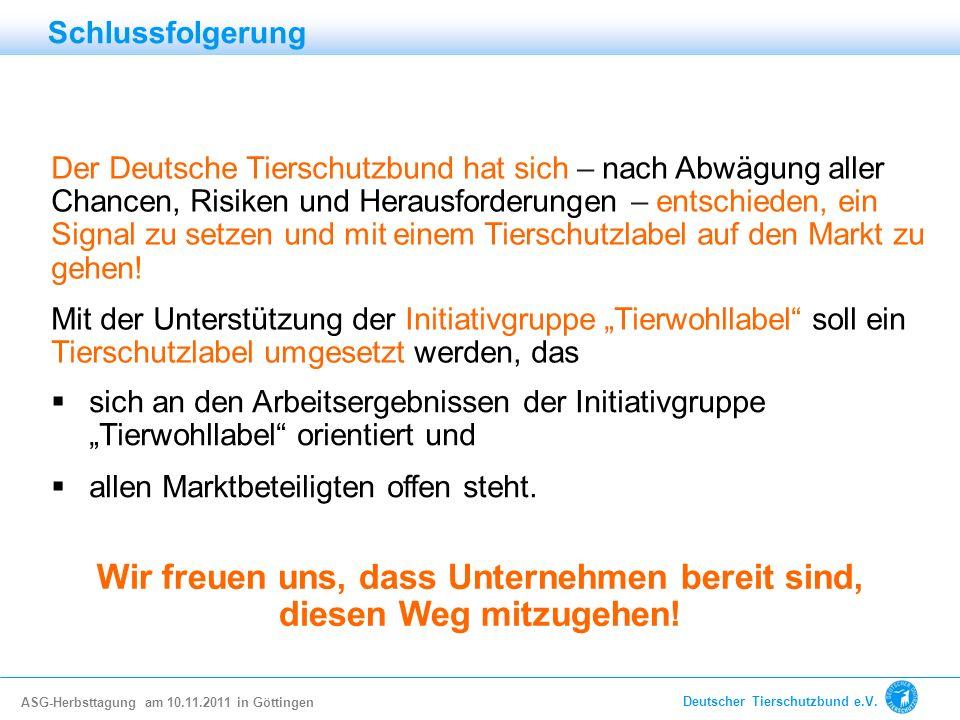 Der Deutsche Tierschutzbund hat sich – nach Abwägung aller Chancen, Risiken und Herausforderungen – entschieden, ein Signal zu setzen und mit einem Ti