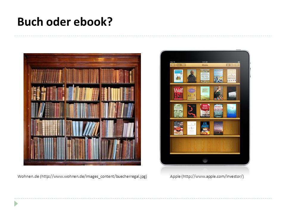 Buch oder ebook? Apple (http://www.apple.com/investor/)Wohnen.de (http://www.wohnen.de/images_content/buecherregal.jpg)
