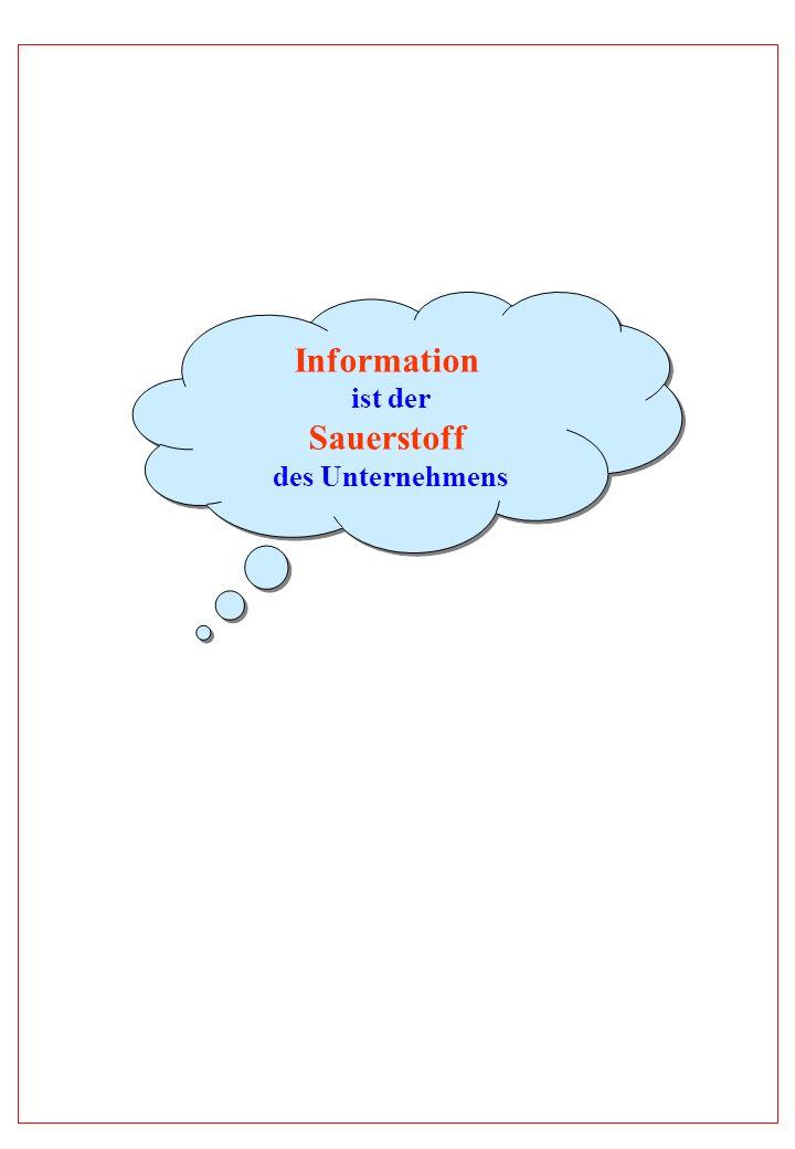 Information ist der Sauerstoff des Unternehmens Information ist der Sauerstoff des Unternehmens
