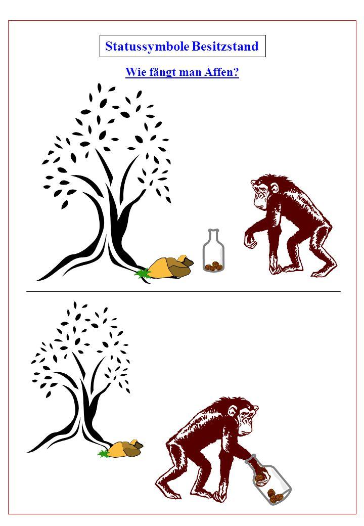 Statussymbole Besitzstand Wie fängt man Affen?