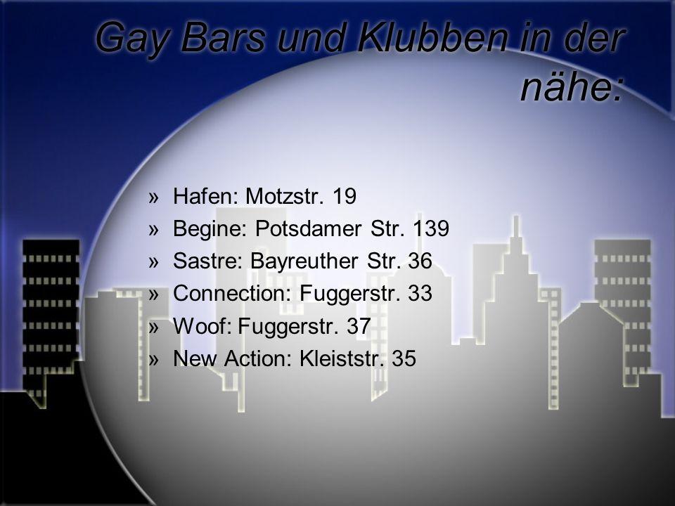 Gay Bars und Klubben in der nähe: »Hafen: Motzstr.