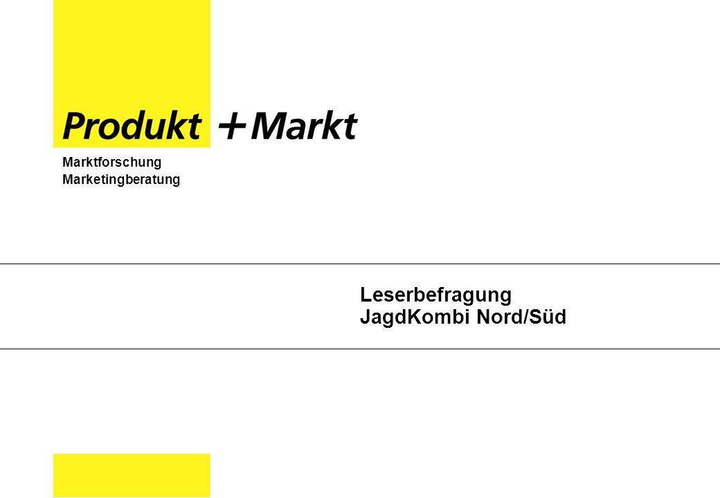Marktforschung Marketingberatung Leserbefragung JagdKombi Nord/Süd