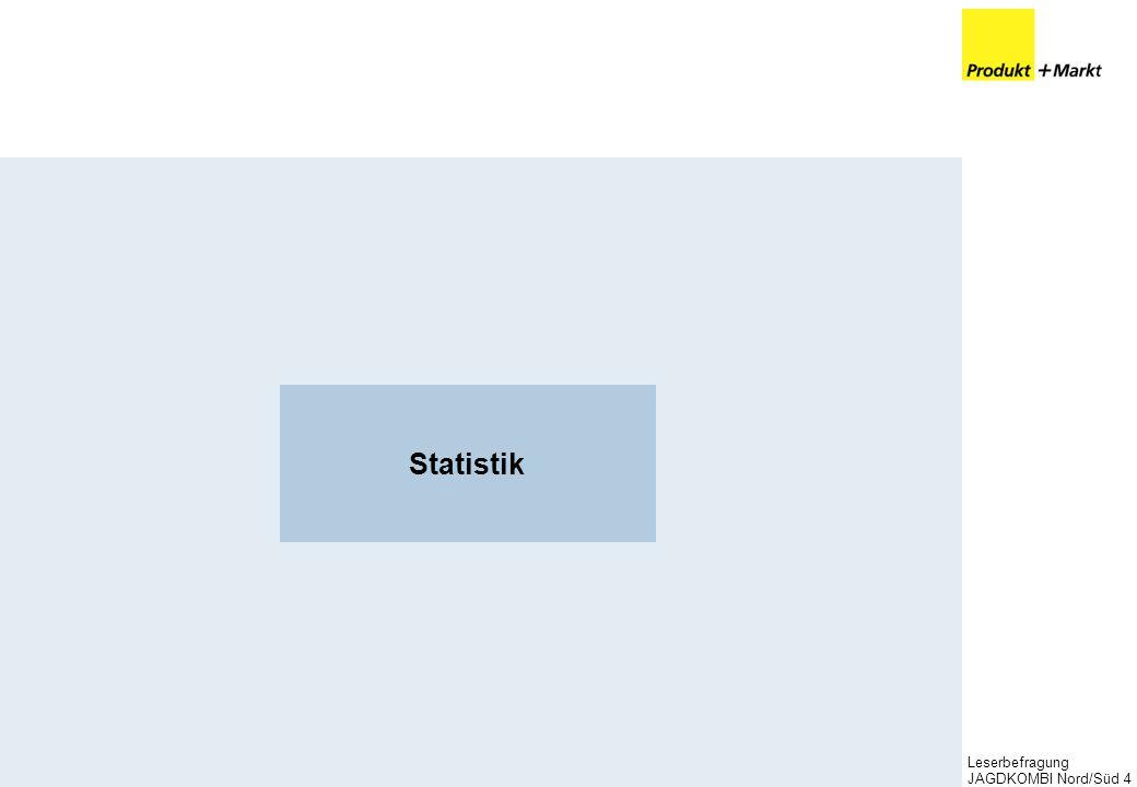 Leserbefragung JAGDKOMBI Nord/Süd4 Statistik