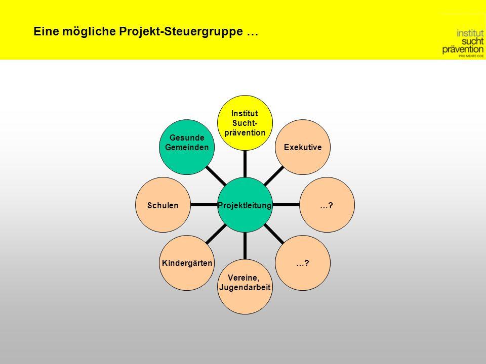 Projektleitung Institut Sucht- prävention Exekutive….