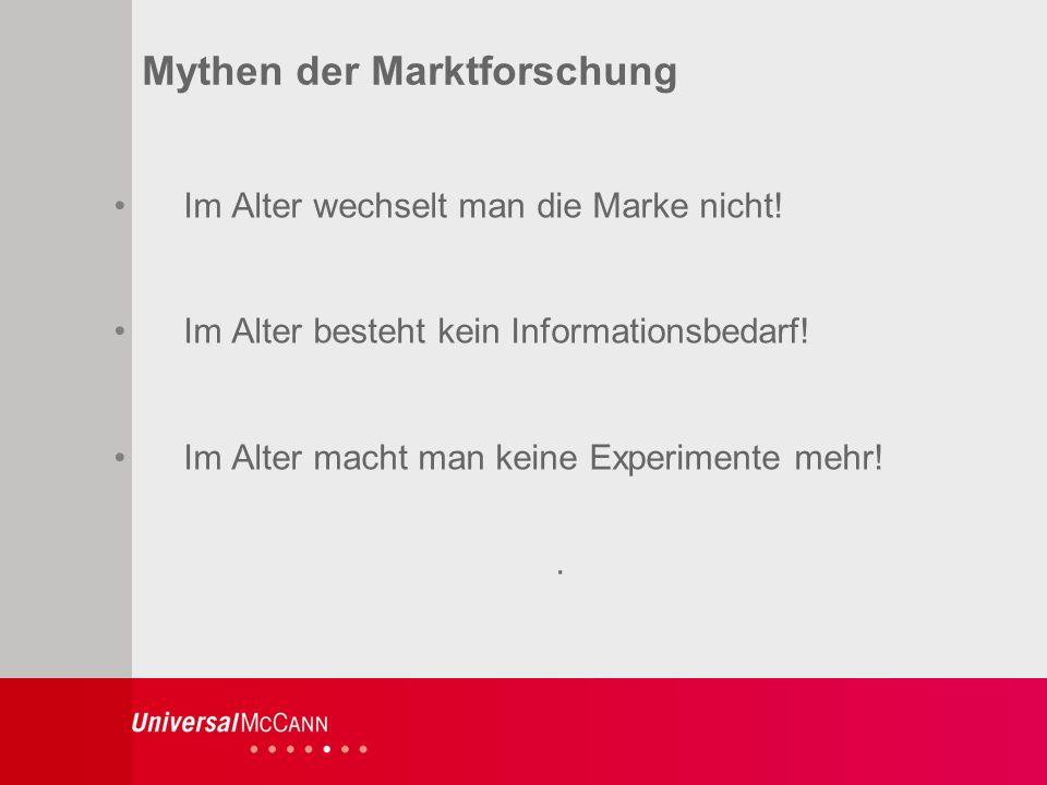 5 Mythen der Marktforschung Im Alter wechselt man die Marke nicht.