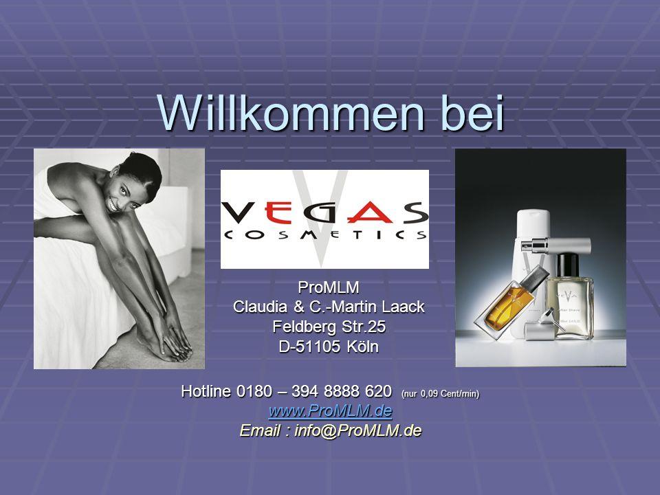 Willkommen bei ProMLM Claudia & C.-Martin Laack Feldberg Str.25 D-51105 Köln Hotline 0180 – 394 8888 620 (nur 0,09 Cent/min) www.ProMLM.de Email : inf