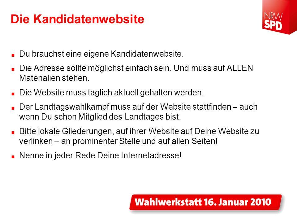 DAS WAHLKAMPFDESIGN... Ab Ende Januar verfügbar bei nrwspd.net