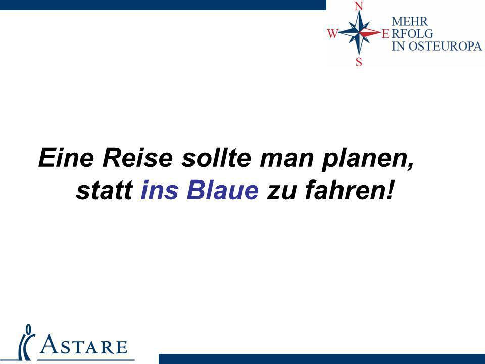 Eine Reise sollte man planen, statt ins Blaue zu fahren!