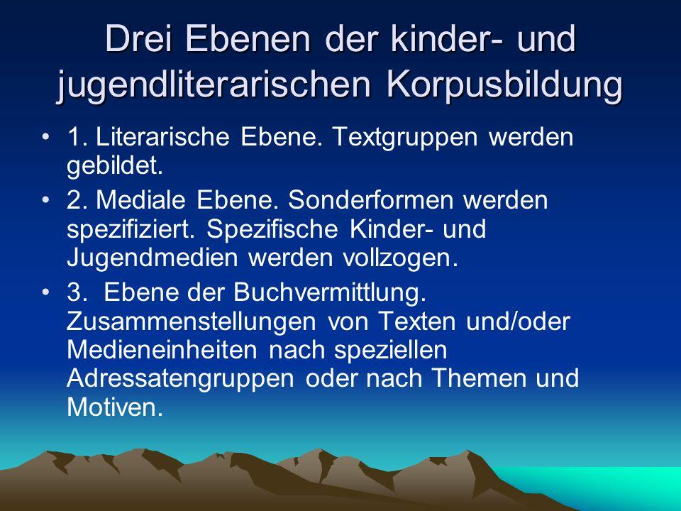 Drei Ebenen der kinder- und jugendliterarischen Korpusbildung 1.