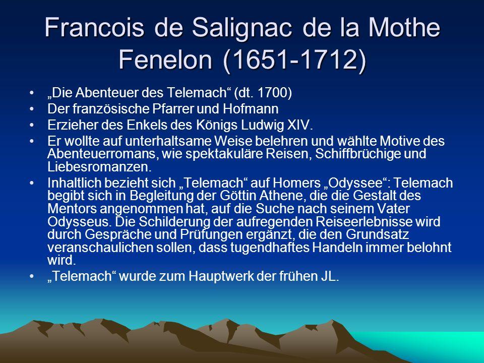Francois de Salignac de la Mothe Fenelon (1651-1712) Die Abenteuer des Telemach (dt.