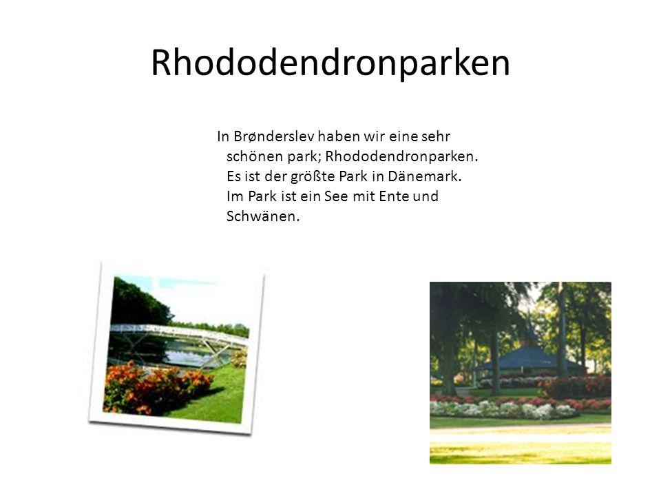 Rhododendronparken In Brønderslev haben wir eine sehr schönen park; Rhododendronparken. Es ist der größte Park in Dänemark. Im Park ist ein See mit En