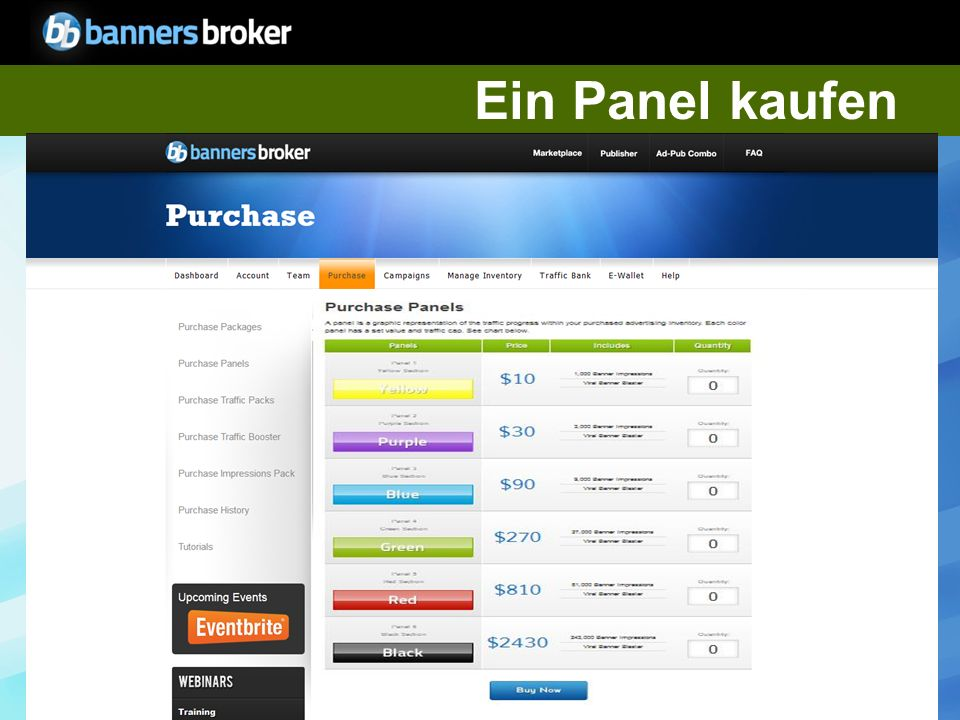 Copyright © BannersBroker.All rights reserved. 11 Wie wird ein Panel qualifiziert.