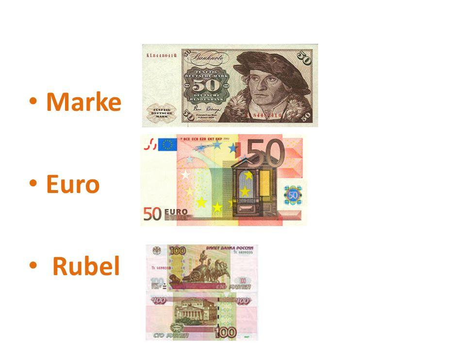 Marke Euro Rubel