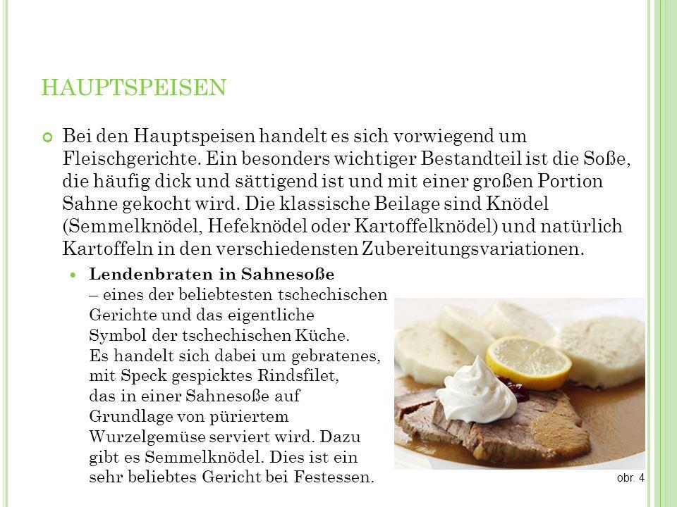 H AUPTSPEISEN Paniertes Schnitzel – Schweine-, Kalbs- oder Hühnerschnitzel paniert (Panade aus Mehl, Ei, Paniermehl), mit Kartoffelbrei oder Kartoffelsalat serviert.
