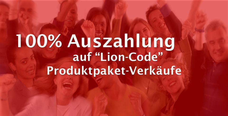 100% Auszahlung auf Lion-Code Produktpaket-Verkäufe 100% Auszahlung auf Lion-Code Produktpaket-Verkäufe