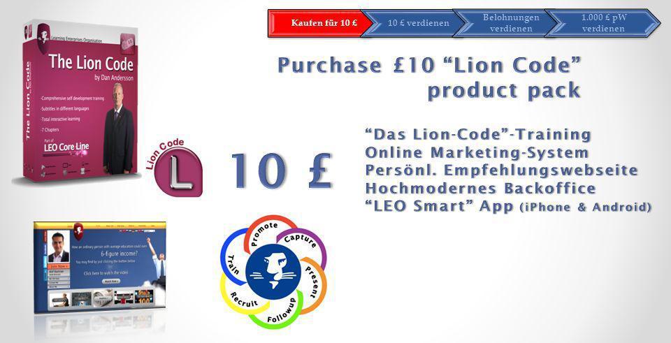 Kaufen für 10 £10 £ verdienen Belohnungen verdienen 1.000 £ pW verdienen