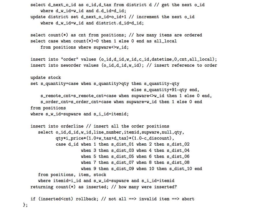 Anwendungsoperationen in der Datenbank: Stored Procedures