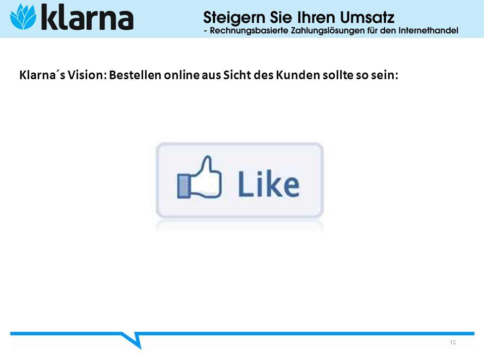 10 Klarna´s Vision: Bestellen online aus Sicht des Kunden sollte so sein: