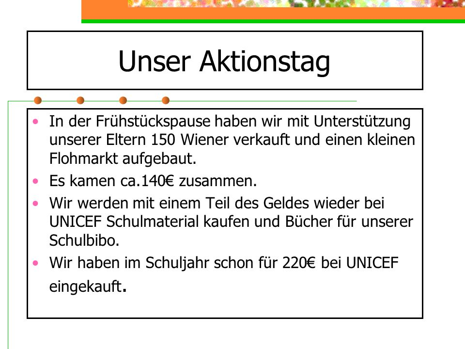 Unser Aktionstag