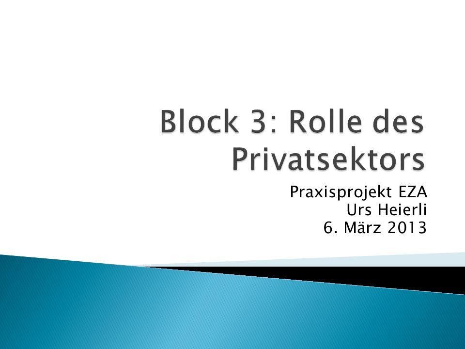 Praxisprojekt EZA Urs Heierli 6. März 2013