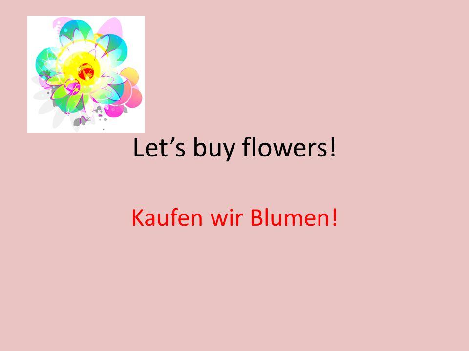 Lets buy flowers! Kaufen wir Blumen!