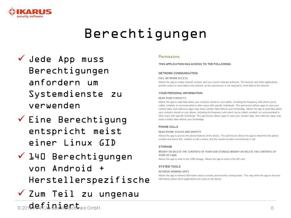 Technische Einschränkungen Android: offenes System, aber kein Sonderstatus für unsere App Kein vollständiger Dateisystem- Zugriff.