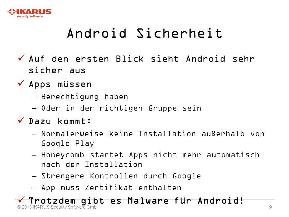 Demo Die Anwendung wurde erfolgreich installiert 50 © 2013 IKARUS Security Software GmbH