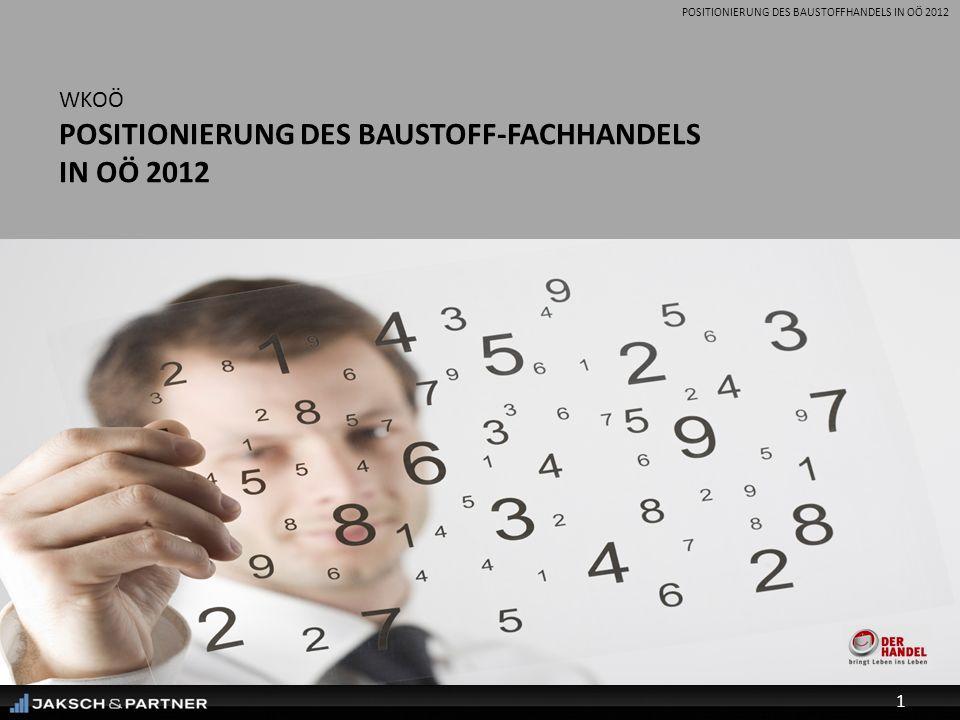 POSITIONIERUNG DES BAUSTOFFHANDELS IN OÖ 2012 WKOÖ POSITIONIERUNG DES BAUSTOFF-FACHHANDELS IN OÖ 2012 1