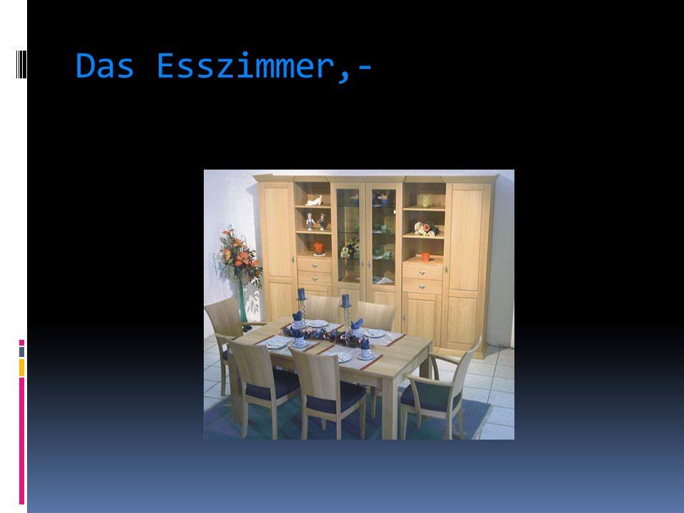 Das Esszimmer,-