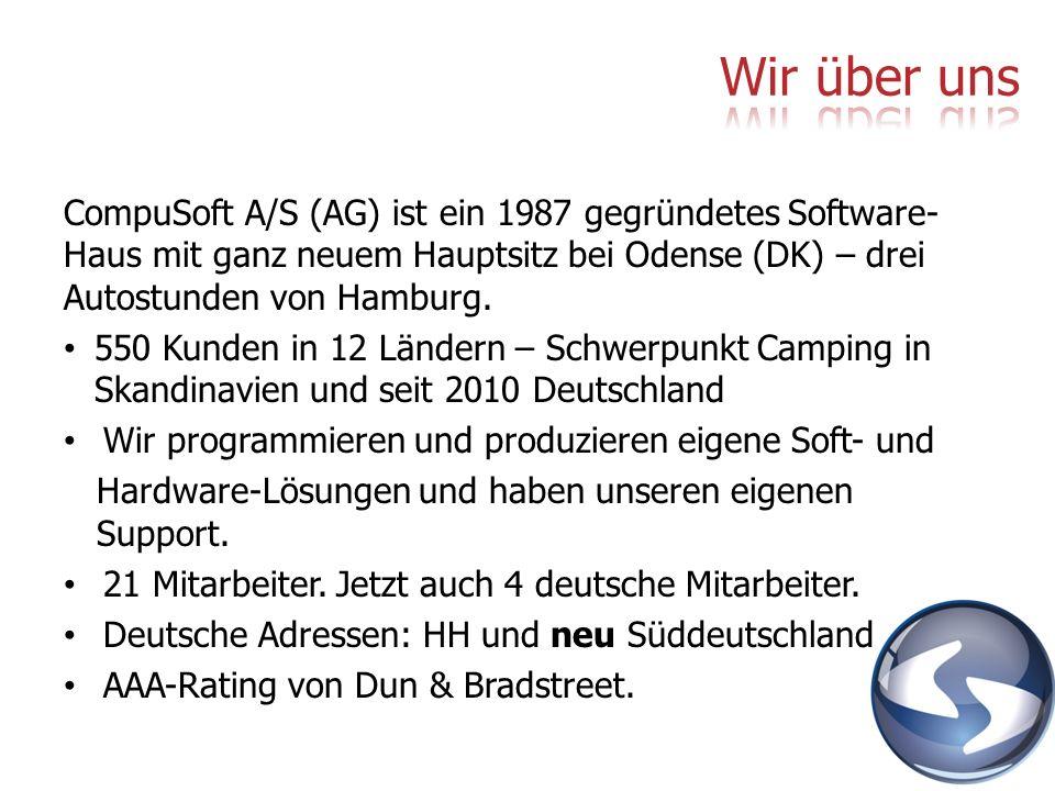 CompuSoft A/S (AG) ist ein 1987 gegründetes Software- Haus mit ganz neuem Hauptsitz bei Odense (DK) – drei Autostunden von Hamburg. 550 Kunden in 12 L