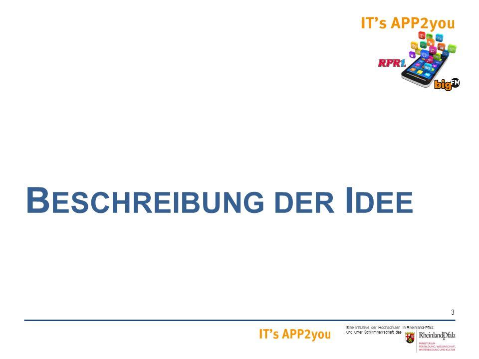 3 Eine Initiative der Hochschulen in Rheinland-Pfalz und unter Schirmherrschaft des B ESCHREIBUNG DER I DEE