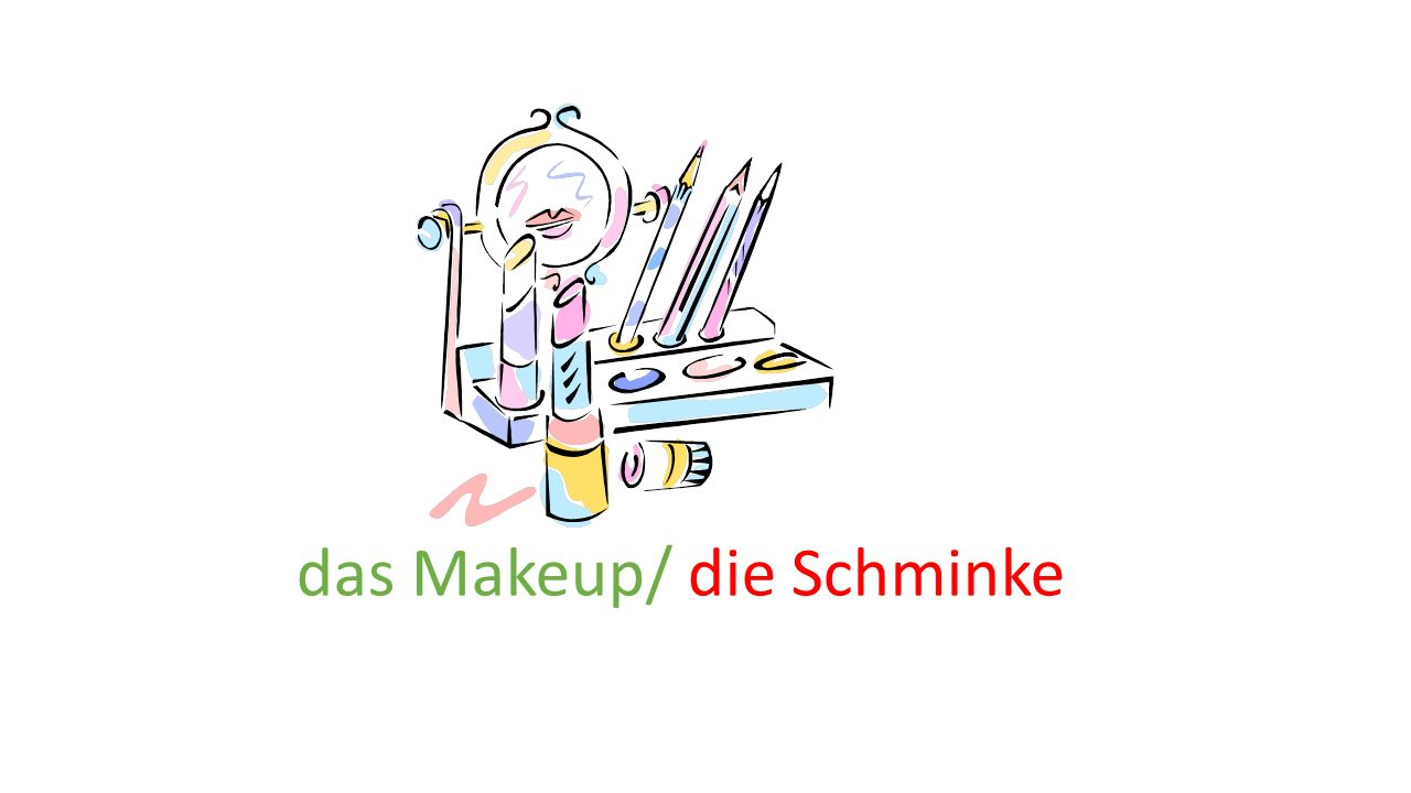 das Makeup/ die Schminke