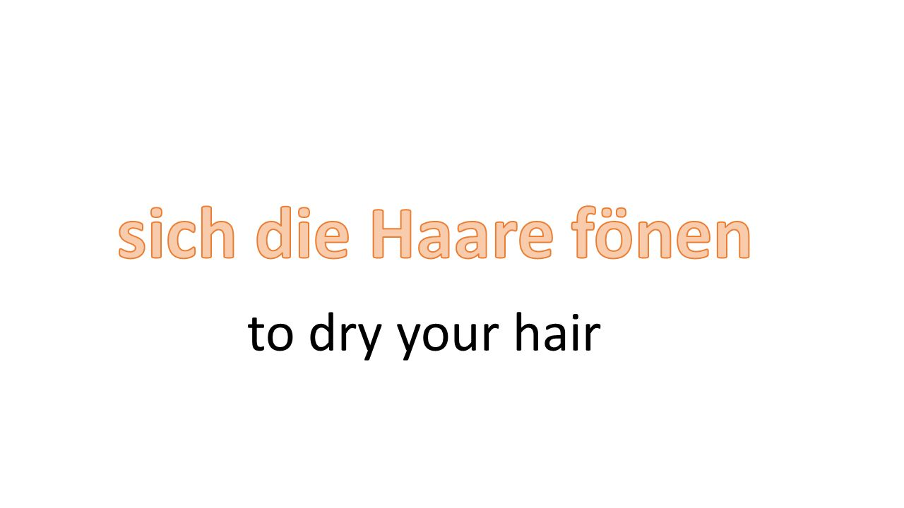 to dry your hair