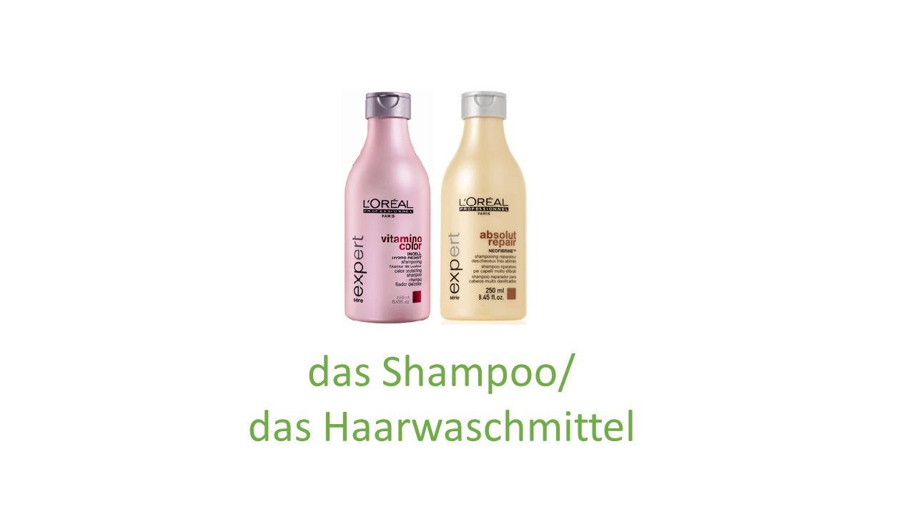 das Shampoo/ das Haarwaschmittel