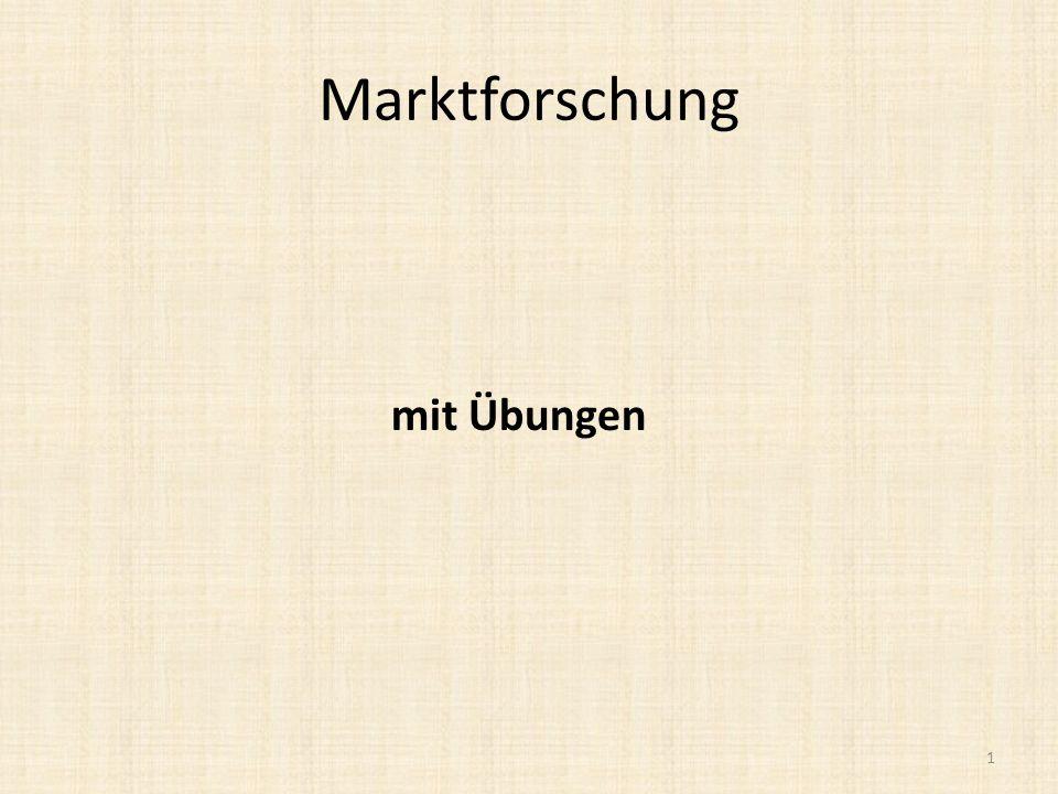 Marktforschung 1 mit Übungen