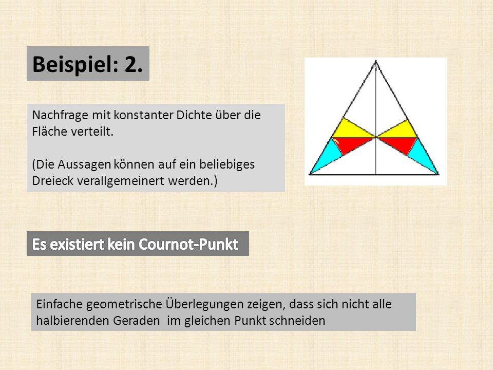 Beispiel: 2.Nachfrage mit konstanter Dichte über die Fläche verteilt.