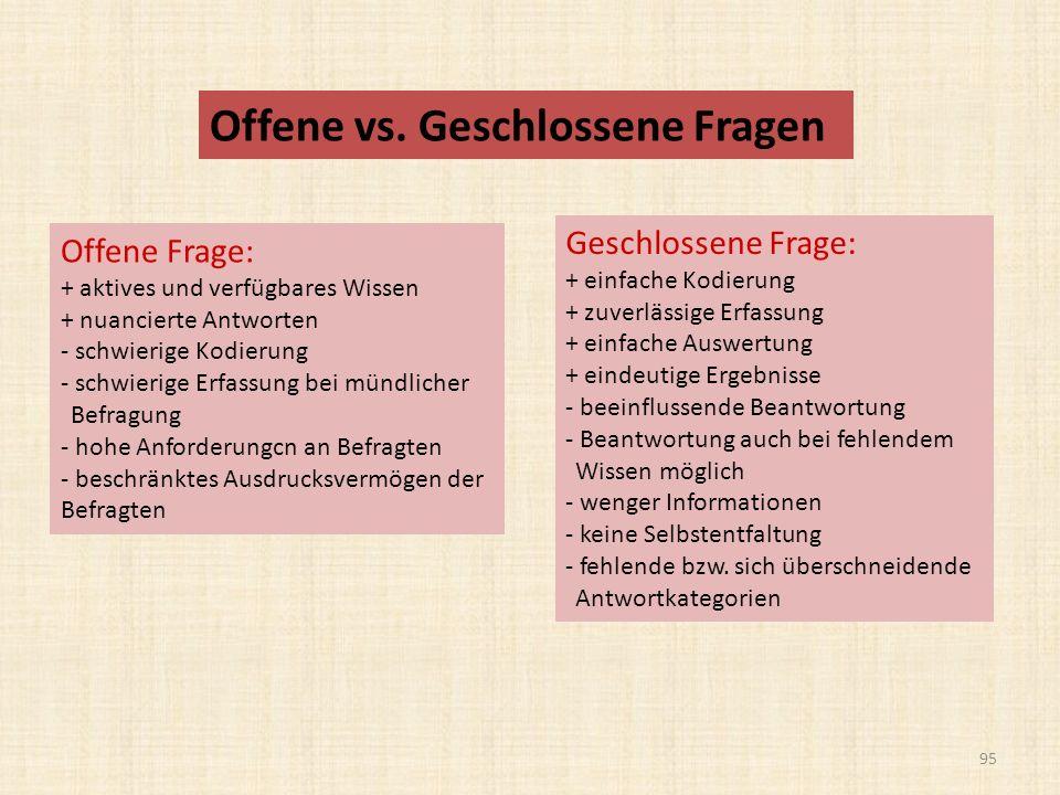 Offene vs.
