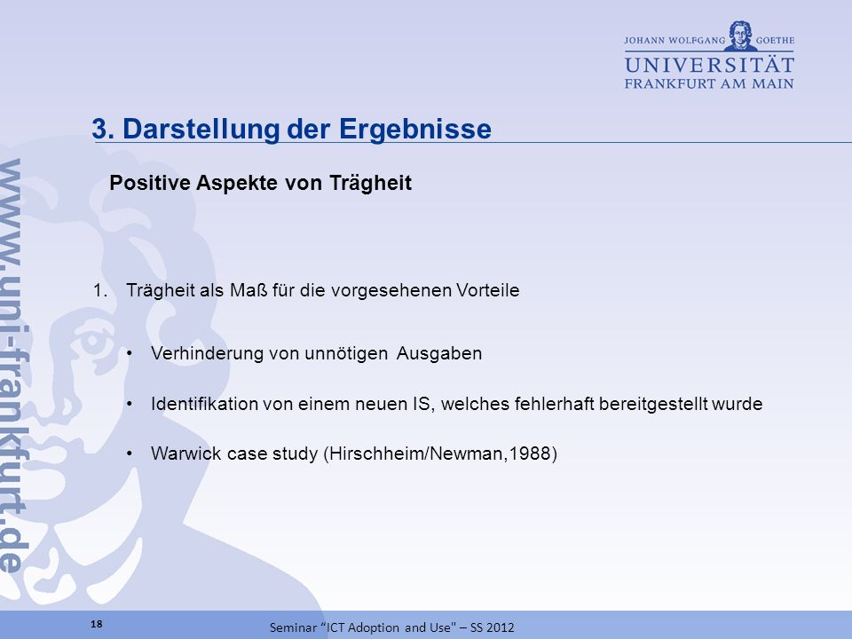 3. Darstellung der Ergebnisse 18 Seminar ICT Adoption and Use