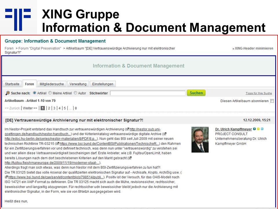 106 EIM Update und Trends 2010 Dr. Ulrich Kampffmeyer PROJECT CONSULT Unternehmensberatung Dr. Ulrich Kampffmeyer GmbH Breitenfelder Straße 17 20251 H