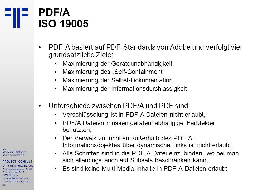 116 EIM Update und Trends 2010 Dr. Ulrich Kampffmeyer PROJECT CONSULT Unternehmensberatung Dr. Ulrich Kampffmeyer GmbH Breitenfelder Straße 17 20251 H