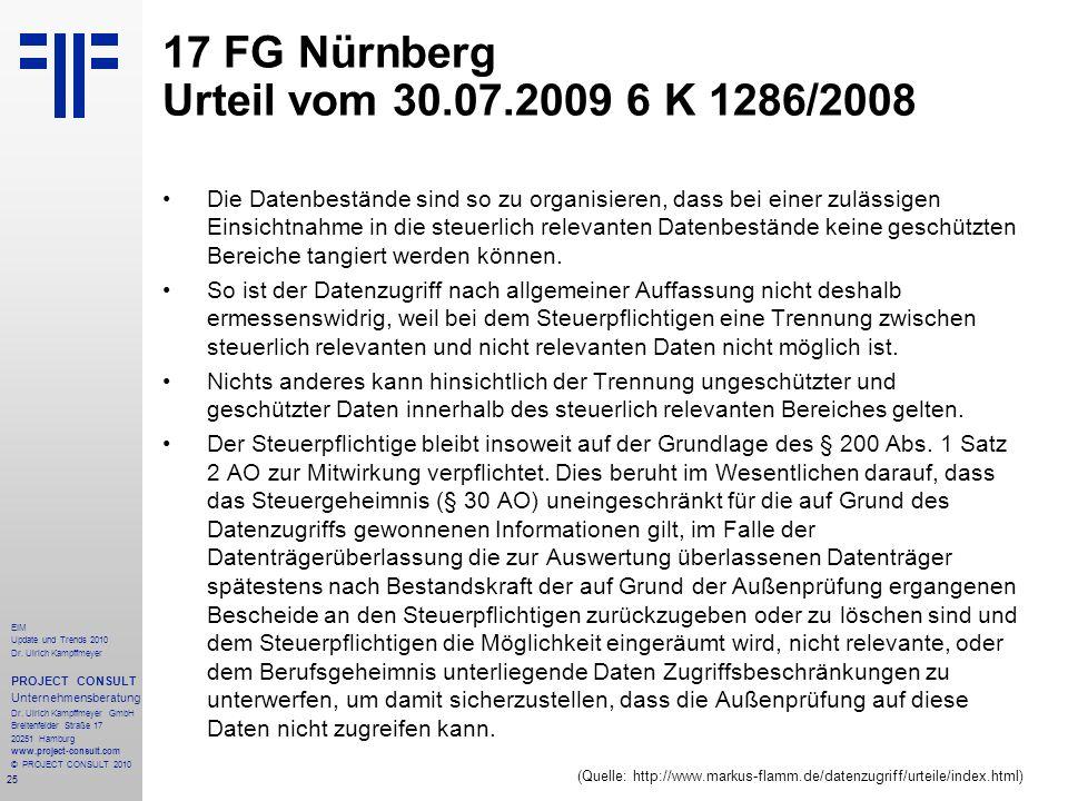 25 EIM Update und Trends 2010 Dr. Ulrich Kampffmeyer PROJECT CONSULT Unternehmensberatung Dr. Ulrich Kampffmeyer GmbH Breitenfelder Straße 17 20251 Ha