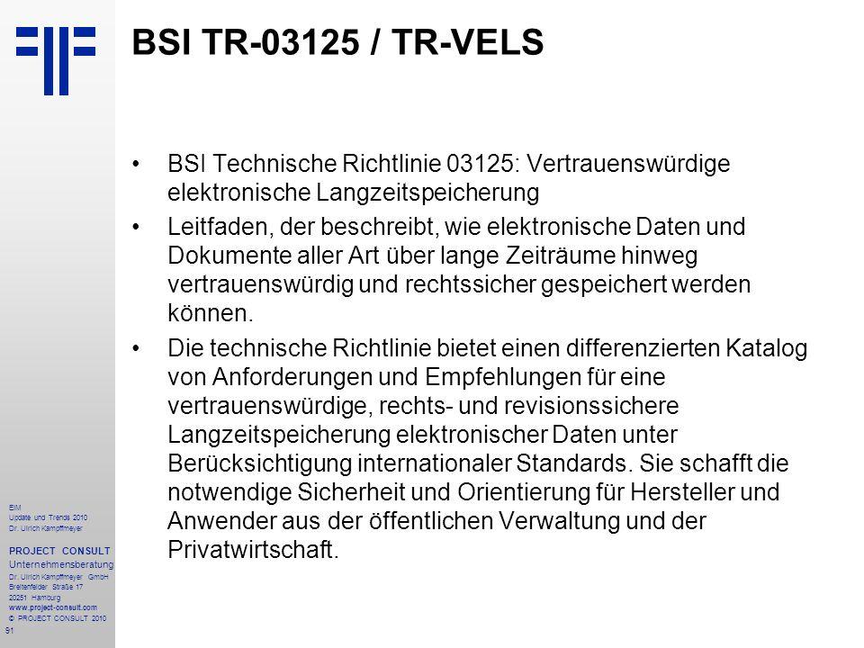 91 EIM Update und Trends 2010 Dr. Ulrich Kampffmeyer PROJECT CONSULT Unternehmensberatung Dr. Ulrich Kampffmeyer GmbH Breitenfelder Straße 17 20251 Ha