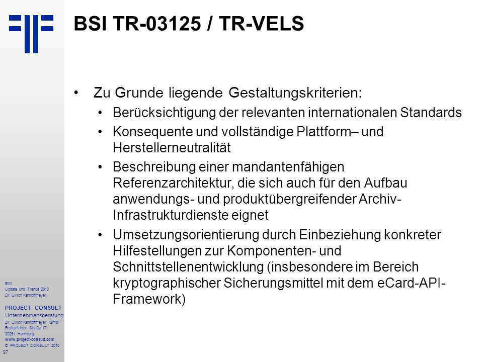 97 EIM Update und Trends 2010 Dr. Ulrich Kampffmeyer PROJECT CONSULT Unternehmensberatung Dr. Ulrich Kampffmeyer GmbH Breitenfelder Straße 17 20251 Ha