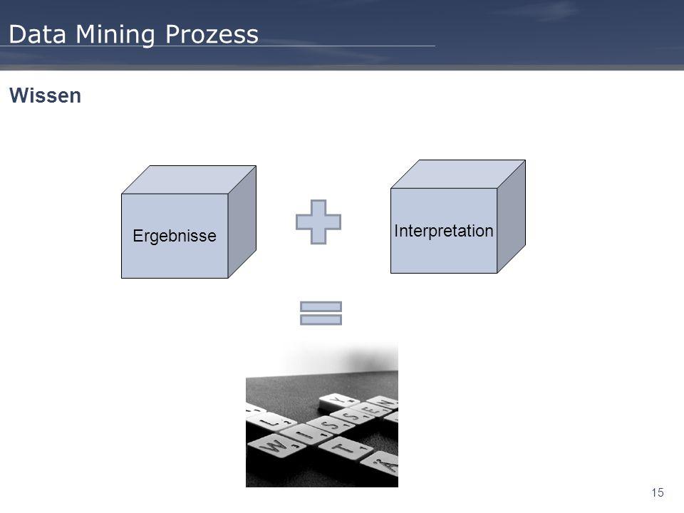 15 Data Mining Prozess Wissen Ergebnisse Interpretation