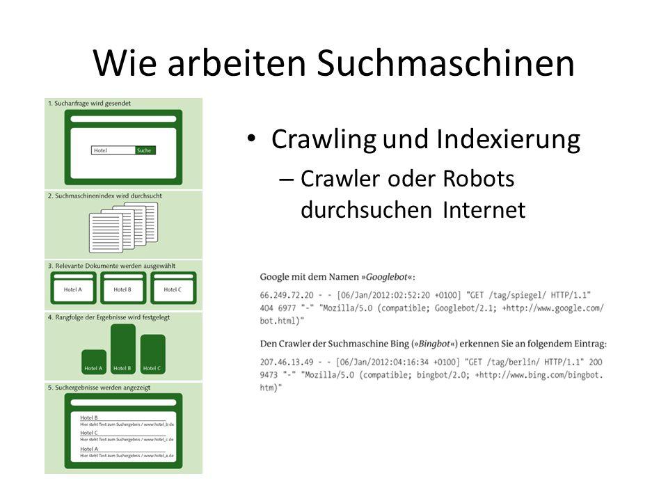 Wie arbeiten Suchmaschinen Crawling und Indexierung – Crawler oder Robots durchsuchen Internet